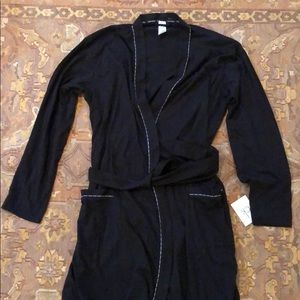 Calvin Klein Black full length Robe